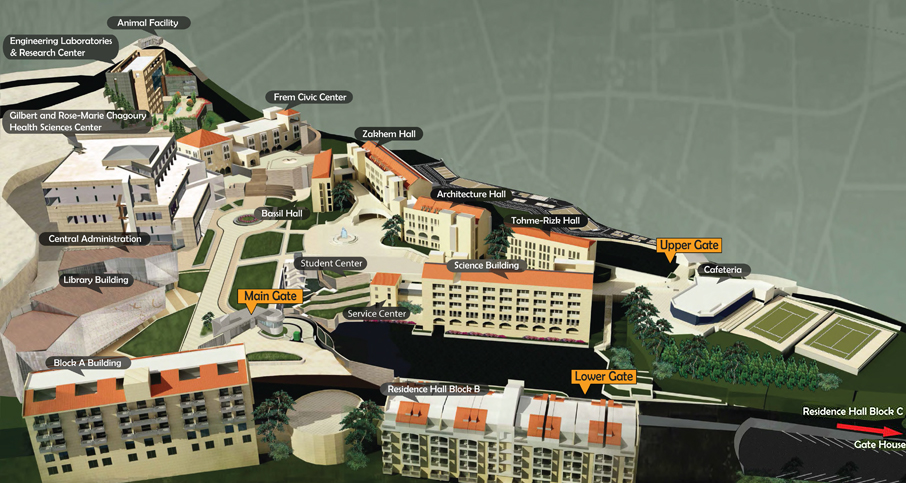 3D View of Byblos Campus