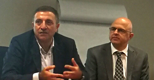 Roy Majdalani and Georges Hamouche in the FM Team Interactive Meeting