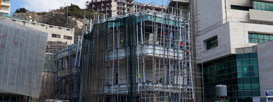 Central Administration Building, construction in its final stages, Byblos Campus