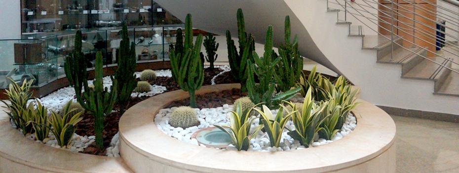 Gilbert and Rose-Marie Chagoury Health Sciences Center interior landscape design