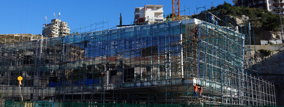 Library & Central Administration, Construction in Progress, Byblos Campus