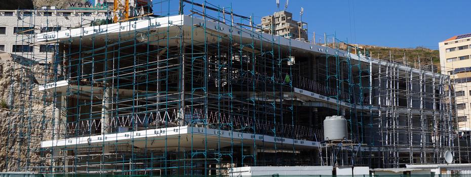 Byblos Library Construction in Progress