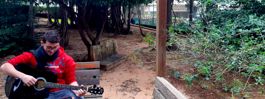 Studying and Playing on campus grounds, despite all odds