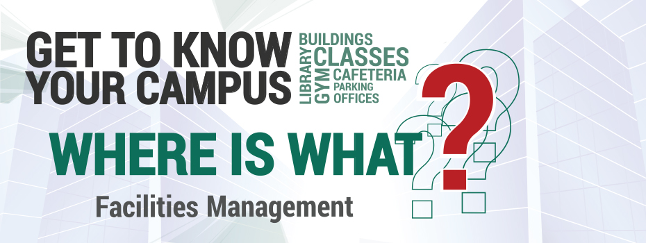 Get to know your campus and find the location of your classes, schools, academic, recreational and public spaces.